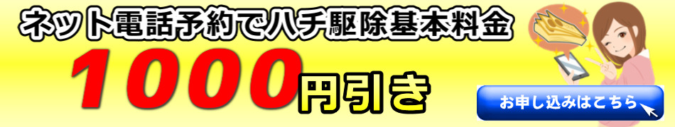 伊賀市のハチ駆除基本料金から1000円引きボタン画像jpeg
