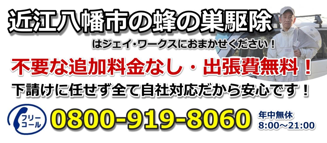 近江八幡市のハチ駆除ジェイ・ワークスのヘッダー画像3